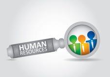Conceito dos recursos humanos Fotos de Stock
