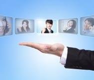Conceito dos recursos humanos Imagens de Stock
