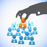Conceito dos recursos humanos Fotografia de Stock