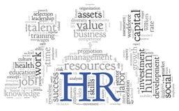 Conceito dos recursos humanos na nuvem da etiqueta Imagens de Stock Royalty Free