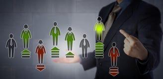 Conceito dos recursos humanos para a avaliação de desempenho Fotografia de Stock Royalty Free