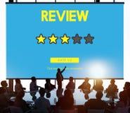 Conceito dos resultados da revisão do voto do comentário do feedback de cliente fotos de stock royalty free
