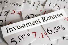 Conceito dos retornos de investimento Imagens de Stock