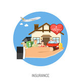 Conceito dos serviços de seguro Fotos de Stock