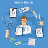 Conceito dos serviços médicos Fotos de Stock