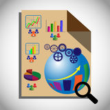 Conceito dos testes de inteligência empresarial, que igualmente representam OLAP que executa a análise multidimensional dos dados Foto de Stock