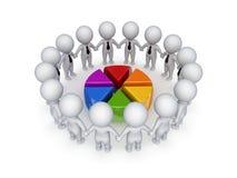Conceito dos trabalhos de equipa. Imagens de Stock
