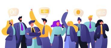 Conceito dos trabalhos de equipa do negócio Os povos decidem perguntas do negócio, confer ilustração royalty free