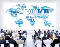 Conceito dos trabalhos de equipa do planeamento do colega de trabalho do negócio da cooperação Imagem de Stock Royalty Free