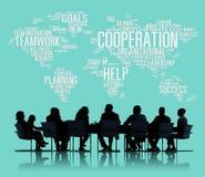 Conceito dos trabalhos de equipa do planeamento do colega de trabalho do negócio da cooperação Fotografia de Stock