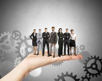 Conceito dos trabalhos de equipa e da integração Imagens de Stock