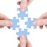 Conceito dos trabalhos de equipa e da parceria Imagem de Stock