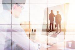 Conceito dos trabalhos de equipa e da reunião Imagem de Stock Royalty Free
