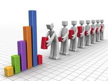 Conceito dos trabalhos de equipa e do desempenho do negócio Imagens de Stock Royalty Free