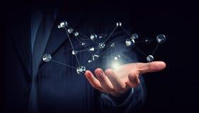 Conceito dos trabalhos em rede e da comunicação Foto de Stock