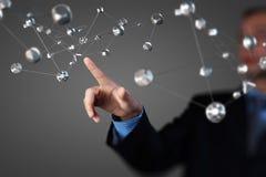Conceito dos trabalhos em rede e da comunicação Imagem de Stock Royalty Free
