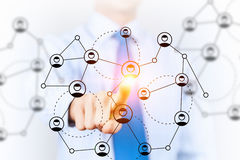 Conceito dos trabalhos em rede e da conexão Meios mistos Imagens de Stock