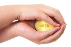 Conceito dourado da caixa de pensões Imagens de Stock Royalty Free