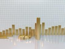Conceito dourado do negócio da carta Fotografia de Stock Royalty Free