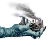 Conceito e alterações climáticas ambientais do perigo ilustração stock