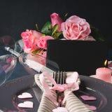 Conceito e cartão do dia do ` s do Valentim Fotos de Stock Royalty Free