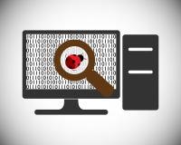 Conceito e erro dos testes do software que encontram o processo Fotografia de Stock Royalty Free