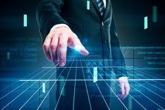 Conceito e homem de negócios do Cyberspace Imagem de Stock