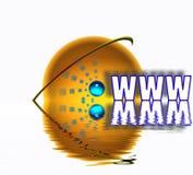 Conceito e símbolos do World Wide Web ilustração stock