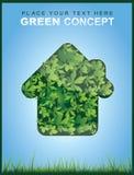 Conceito ecológico com a casa feita das folhas Imagem de Stock Royalty Free