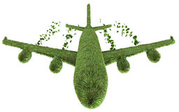 Conceito ecológico da viagem aérea ilustração do vetor