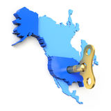 Conceito econômico americano do impulso - ilustração 3D Fotos de Stock Royalty Free