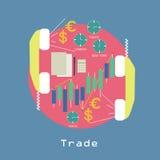 Conceito econômico w do comércio do negócio em todo o mundo Fotografia de Stock Royalty Free