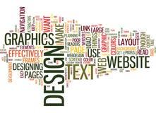 Conceito eficaz da nuvem da palavra do design web imagens de stock
