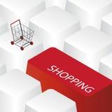 Conceito em linha da compra Imagem de Stock