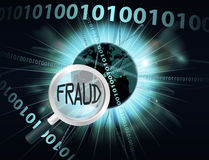 Conceito em linha da fraude Imagens de Stock Royalty Free