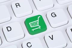 Conceito em linha da loja do Internet do comércio eletrônico da compra Foto de Stock