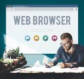 Conceito em linha da página do web browser genérico Fotos de Stock