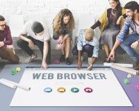 Conceito em linha da página do web browser genérico Foto de Stock Royalty Free