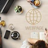 Conceito em linha do Internet do homepage do HTTP fotografia de stock