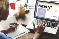 Conceito em linha do Internet dos trabalhos em rede da compra do pagamento imagem de stock