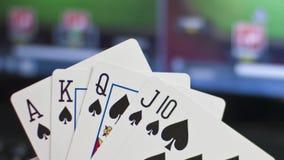 Conceito em linha do pôquer vídeos de arquivo