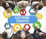 Conceito em linha do pagamento da operação bancária de transferência eletrônica imagem de stock