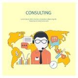 Conceito em linha do serviço de consultadoria do cliente Imagem de Stock