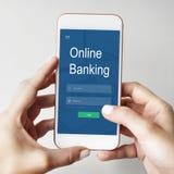 Conceito em linha dos Internet banking do pagamento fotografia de stock