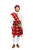 Conceito escocês das tradições com vestir da pessoa Fotografia de Stock