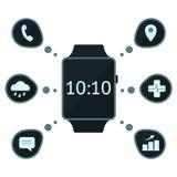 Conceito esperto do relógio Foto de Stock