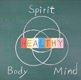 Conceito, espírito, corpo e mente saudáveis Fotografia de Stock Royalty Free
