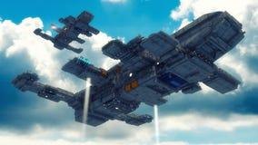Conceito estrangeiro do UFO da nave espacial Fotografia de Stock