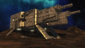Conceito estrangeiro do UFO da nave espacial Fotos de Stock