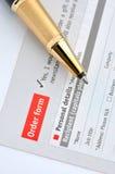 Conceito, exame e pedido do negócio Fotos de Stock